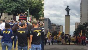 Em Goiânia, ato contra Reforma da Previdência reúne centenas de trabalhadores