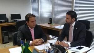 Prefeito de Anápolis se reúne com ministros em busca de recursos para cidade