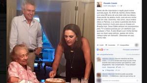 Morre Odete Carvalho, sogra do senador Ronaldo Caiado