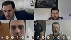 Em sessão virtual, deputados debatem rompimento de Caiado com presidente Bolsonaro