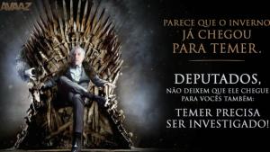 """Aeroporto de Brasília veta anúncio que coloca Temer em """"Game Of Thrones"""""""