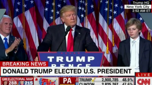 Donald Trump surpreende e é eleito presidente dos Estados Unidos
