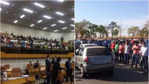 Motoristas da Uber realizam protesto em Goiânia contra projeto de regulamentação