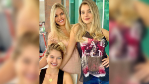 Beleza da viúva do cantor Leandro, da filha e da sobrinha impressionam internet