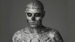 "Modelo Rick Genest, o ""Zombie Boy"", morre aos 32 anos"